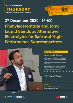Phenylacetonitrile and Ionic Liquid Blends as Alternative Electrolytes for Safe and High-Performance Supercapacitors