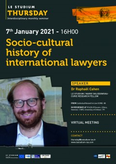 Socio-cultural history of international lawyers