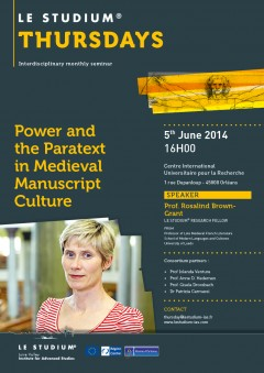 Power and the Paratext in Medieval Manuscript Culture
