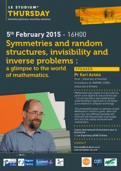 Symmetries and random structures, invisibility and inverse problems : a glimpse to the world of mathematics.
