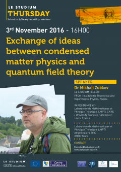 Exchange of ideas between condensed matter physics and quantum field theory