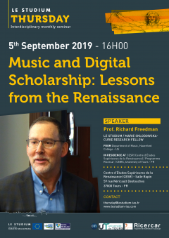 Music and Digital Scholarship: Lessons from the Renaissance