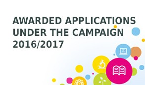 Awarded applications under the campaign 2016/2017