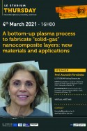 """A bottom-up plasma process to fabricate """"solid-gas"""" nanocomposite layers: New materials and applications"""