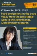 Food professions in the Loire Valley from the late Middle Ages to the Renaissance. A preliminary research