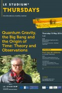 Quantum Gravity, the Big Bang and the Origin of Time: Theory and Observations