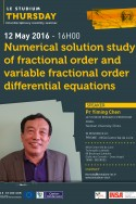 Numerical solution study of fractional order and variable fractional order differential equations