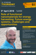 Role of functional nanomaterials for energy harvesting. Future energy systems, challenges and opportunities