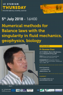Numerical methods for Balance laws with the singularity in fluid mechanics, geophysics, biology