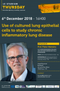 Use of cultured lung epithelial cells to study chronic inflammatory lung disease