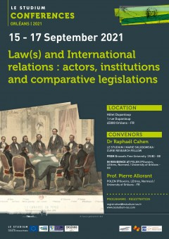 Law(s) and International relations : actors, institutions and comparative legislations