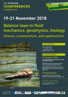 Balance laws in fluid mechanics, geophysics, biology (theory, computation, and application)