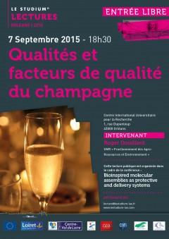 Qualités et facteurs de qualité du champagne