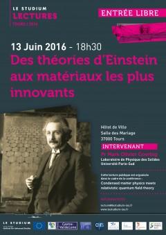 Des théories d'Einstein aux matériaux les plus innovants