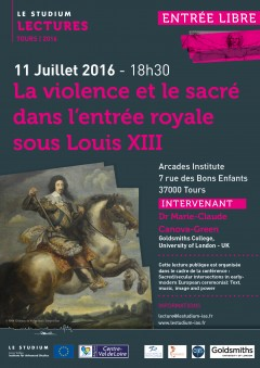 La violence et le sacré dans l'entrée royale sous Louis XIII