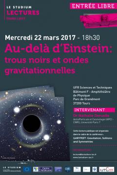 Au-delà d'Einstein: trous noirs et ondes gravitationnelles