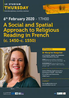 A Social and Spatial Approach to Religious Reading in French  (c. 1450-c. 1550)