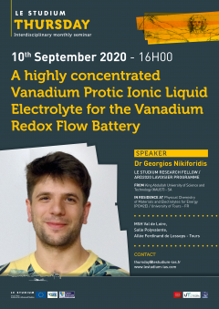 A highly concentrated Vanadium Protic Ionic Liquid Electrolyte for the Vanadium Redox Flow Battery