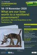 What are our lives worth to a neoliberal government?