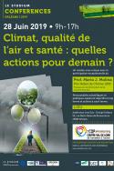 Climat, qualité de l'air et santé : quelles actions pour demain ?