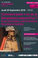 Comment parle-t-on de la Renaissance aujourd'hui ? Entre fétichisation patrimoniale et Renaissance bashing