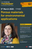 Porous materials for environmental applications