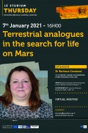 Terrestrial analogues in the search for life on Mars