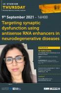 Targeting synaptic dysfunction using antisense RNA enhancers  in neurodegenerative diseases