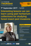 Interesting lessons we can learn using past herbarium collections for studying forest insect pest invasions