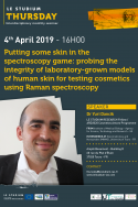 Putting some skin in the spectroscopy game : probing the integrity of laboratory-grown models of human skin for testing cosmetics using Raman spectroscopy