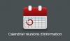 Calendrier réunions d'information