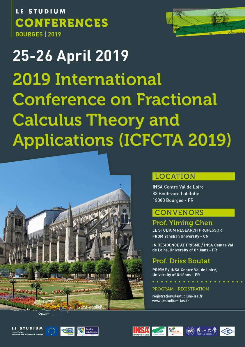 Les Petits Plats Du Bourbon Bourges 2019 international conference on fractional calculus theory